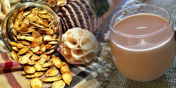 Lapte raw din seminte de dovleac