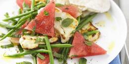 Salata cu pepene verde, menta si fasole verde