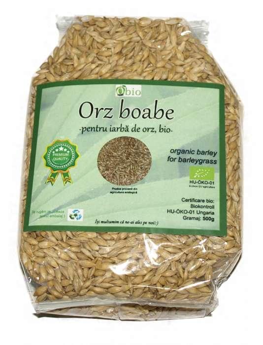 Orz boabe pentru iarba de orz bio