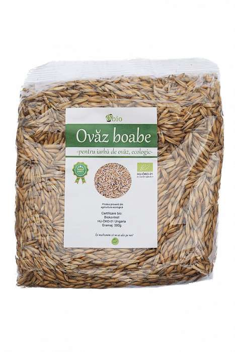 Ovaz boabe pentru iarba de ovaz bio