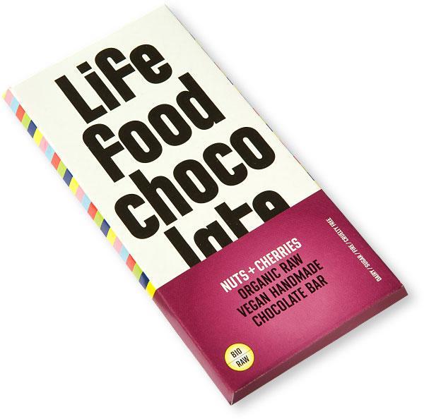 Ciocolata cu cirese si nuci Raw Bio