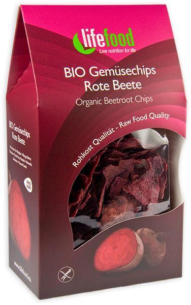 Chips din sfecla rosie Raw Bio