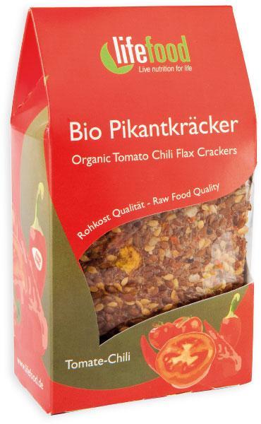 Crackers cu chilli si rosii Raw Bio
