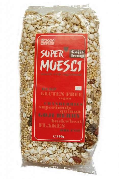 Supermusli cu Goji si seminte de canepa Bio