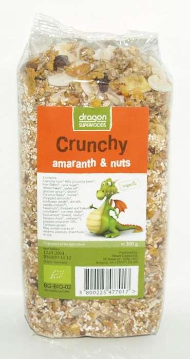 Crunchy cu Amaranth si nuci Bio