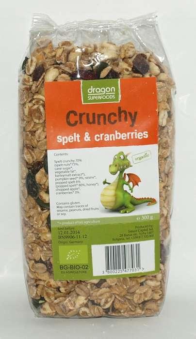 Crunchy cu Spelta si Merisor Bio
