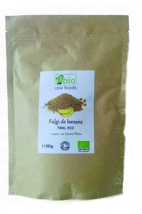 Fulgi de banane raw bio