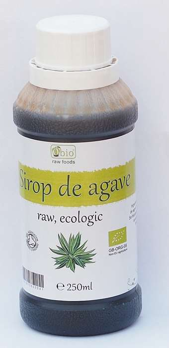 SIROP DE AGAVE BRUN (DARK) RAW BIO 250ML