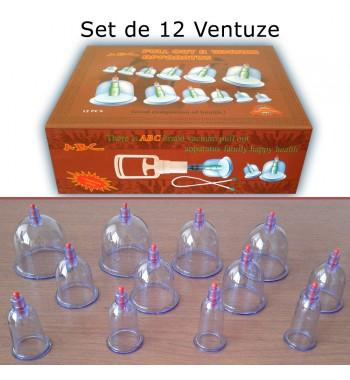 Set de 12 Ventuze - Cupping Set ABC