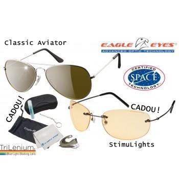 Eagle Eyes Classic Aviator oferta - 2 perechi de ochelarii cu lentile TriLenium Polarizate