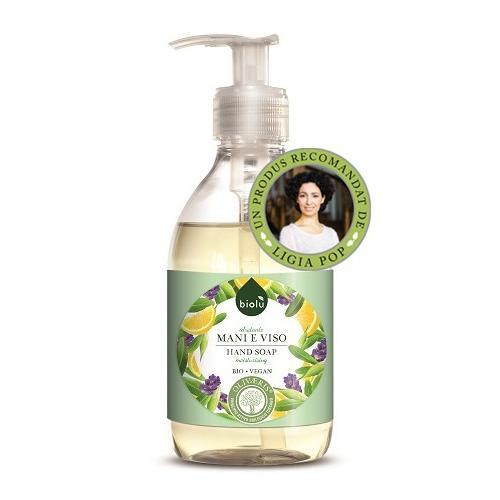 Sapun lichid ecologic antibacterian cu lavanda si Vitamina E vrac bidon 5 litri