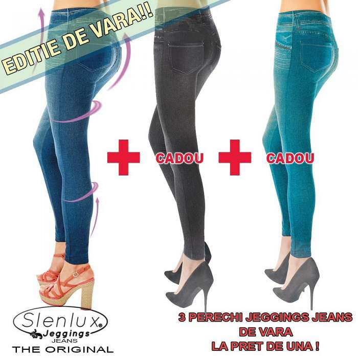 Summer Slenlux Jeggings Jeans - 3 Perechi La Pret De 1