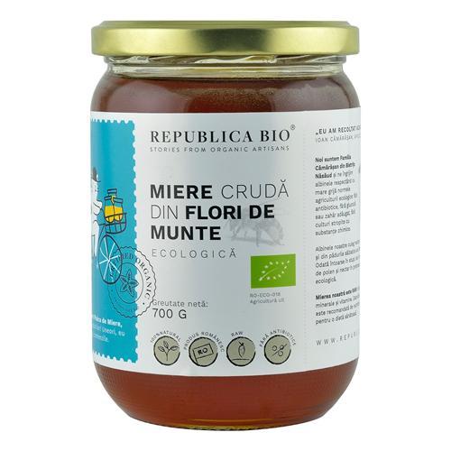 Miere Poliflora cruda din Flori de Munte 700g - Republica BIO