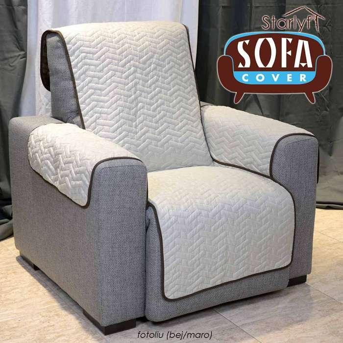 Starlyf Sofa Cover - Cuvertura Protectoare Pentru Fotoliu - Bej/Maro