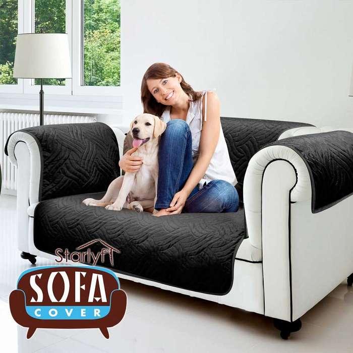 Starlyf Sofa Cover - Cuvertura Pentru Canapea 2 locuri - Negru