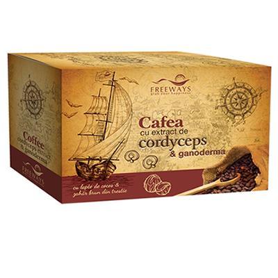 Cafea terapeutica cu extract de Cordyceps si Ganoderma