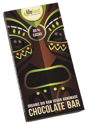 Ciocolata cu 80% cacao raw bio 70g