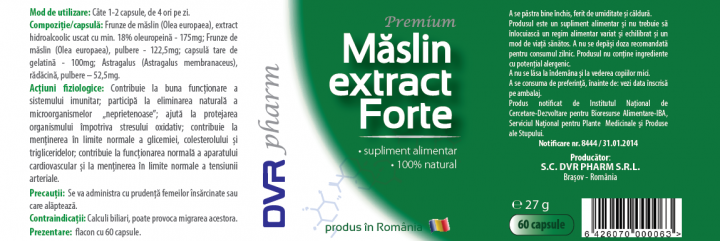 Maslin Extract Forte prospect