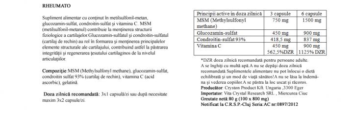 Crystal Complex Rheumato 100 cps prospect