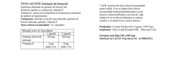 Germeni de Broccoli 100 capsule  prospect