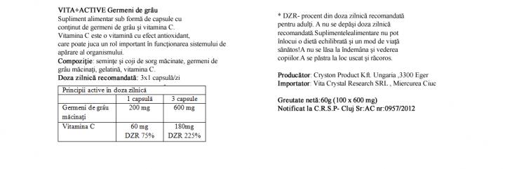 Germeni de Grau 100 capsule  prospect