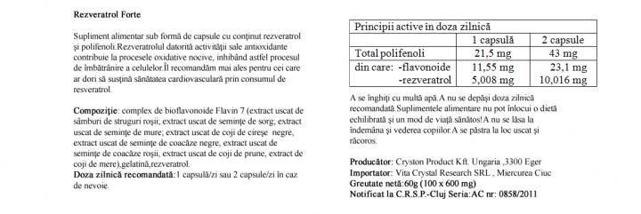 Resveratrol Forte 100 cps prospect