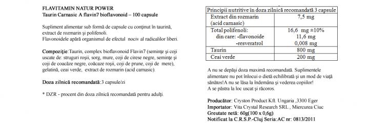 Acid Carnosic cu Taurina  prospect