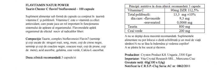 Vitamina C Chester cu Taurina  prospect