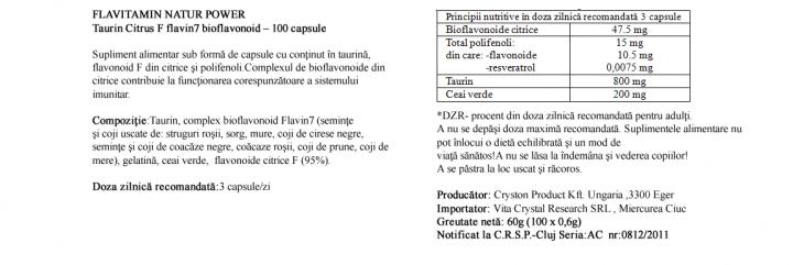 Flavonoide Citrice cu Taurina prospect