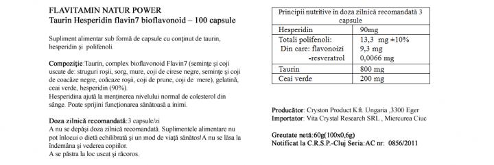 Hesperidina cu Taurina prospect