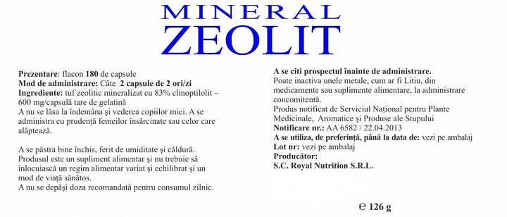 Mineral Zeolit prospect