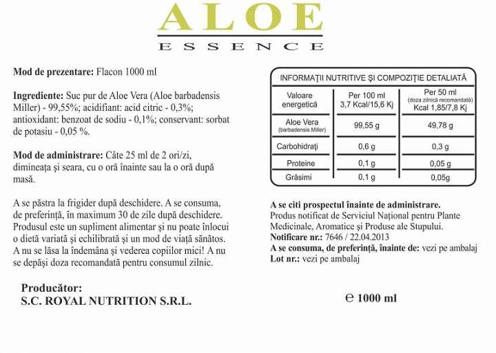 Aloe Essence prospect