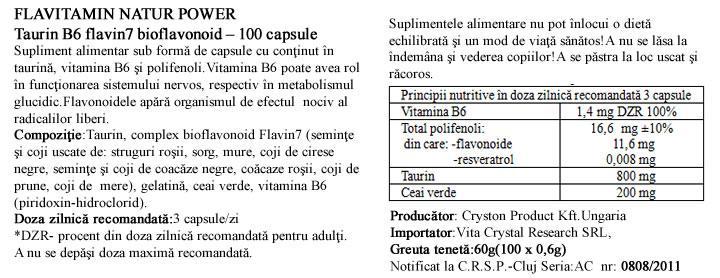 Vitamina B6 cu Taurina  prospect
