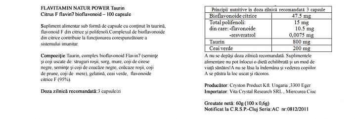 Citrus F cu Taurina  prospect
