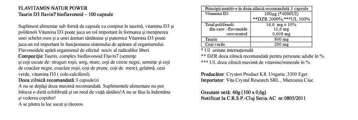 Vitamina D3 cu Taurina prospect