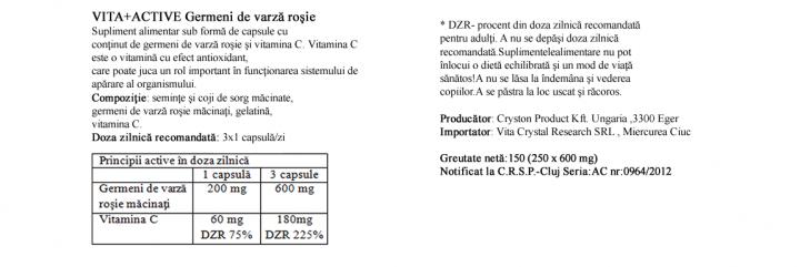 Germeni de varza rosie 250 capsule  prospect