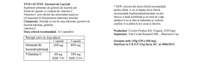 Germeni de Lucerna 250 capsule prospect