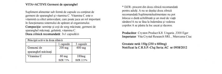 Germeni de Sparanghel 250 capsule prospect