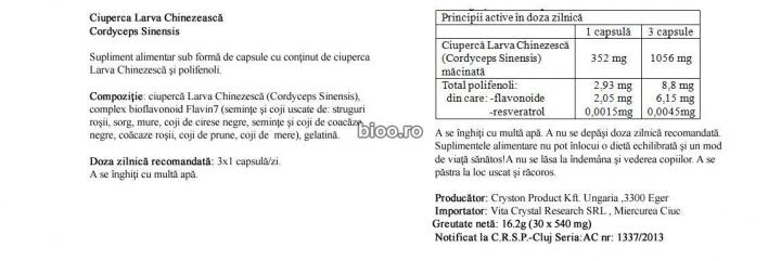 Cordyceps Sinensis 30 capsule prospect