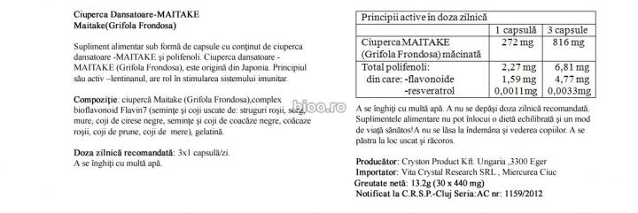 Ciuperca Dansatoare 30 cps prospect