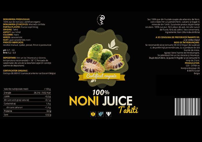 Noni Juice Tahiti 100% organic prospect