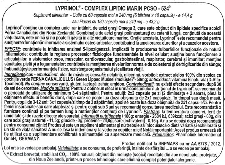 Lyprinol Pachet 3 buc prospect