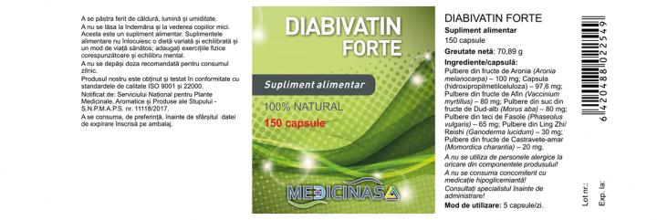 Diabivatin Forte Pachet 3 luni prospect